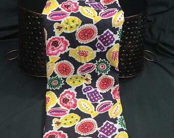 Tropical Print Fabric, Hawaiian Shirt Print, Lavalava Fabric, Cotton Fabric, Bright Colors, 1 + Yard, 42 Wide, Black Fabric, Fabric Remnants
