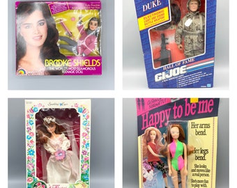 Vintage 80's & 90's Fashion dolls and GI Joe, 11 1/2 inch dolls, Brook Shields, Flower Princess by Creata, Happy to Be Me