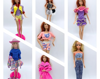 Vintage Barbie Fashions from 1980's and 1990's/ Barbie Mattel clothes/ fashion doll clothes/ Barbie dresses/ Barbie Outfits