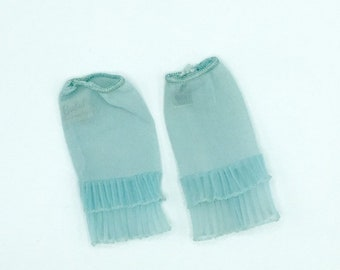 Barbie slips set of 2 tagged vintage lingerie, nylon light blue ruffled slips from 1960s, 11.5 size fashions, gift for doll collectors