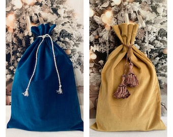 Velvet fabric gift bags/ beautiful gift bag for all occasions/ large reusable gift bag/ 13 x 20/ special gift/ sustainable gift