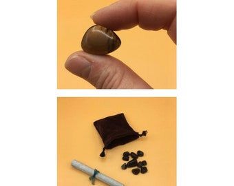 Apache tears gift box set/ sympathy gift/ condolences/ executive, mom, or teacher gift/ includes Apache legend/ set of 10 obsidian stones