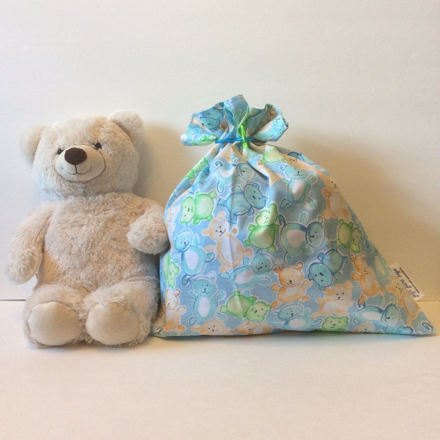 Baby Shower Gift Bag Baby Boy Gift Fabric Gift Bag Easter