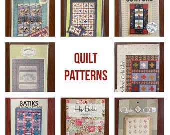 Quilting Patterns / Quilt shop patterns/ baby quilts/ making quilts/ new unused patterns/ gift for quilters