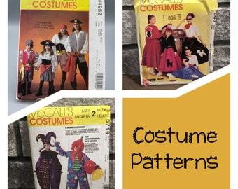 McCall's costume patterns, M4952 pirate size kids 3-8, Halloween, uncut