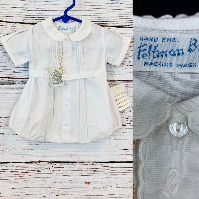 Vintage baby boy Christening outfit for newborns Feltman Bros image 0