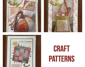 Quilt craft patterns/ quilting patterns/ embroidery/ Crab Apple Hill/ patchwork pumpkin/ Winter Wishes/ Little Charmers/ new patterns