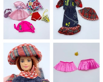 Vintage Barbie Clothes Lot/ 1980's and 1990's mixed outfits/ 11.5 inch doll size fashions/ Barbie Fashions