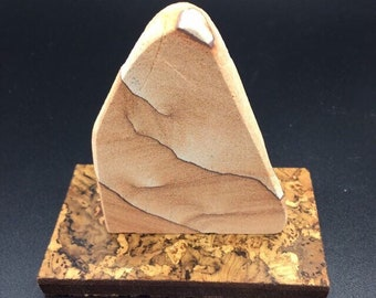 Arizona sandstone carving gift box set/ motivational saying about knowledge/ unique gift/ retirement, father, boss, teacher, desk decor