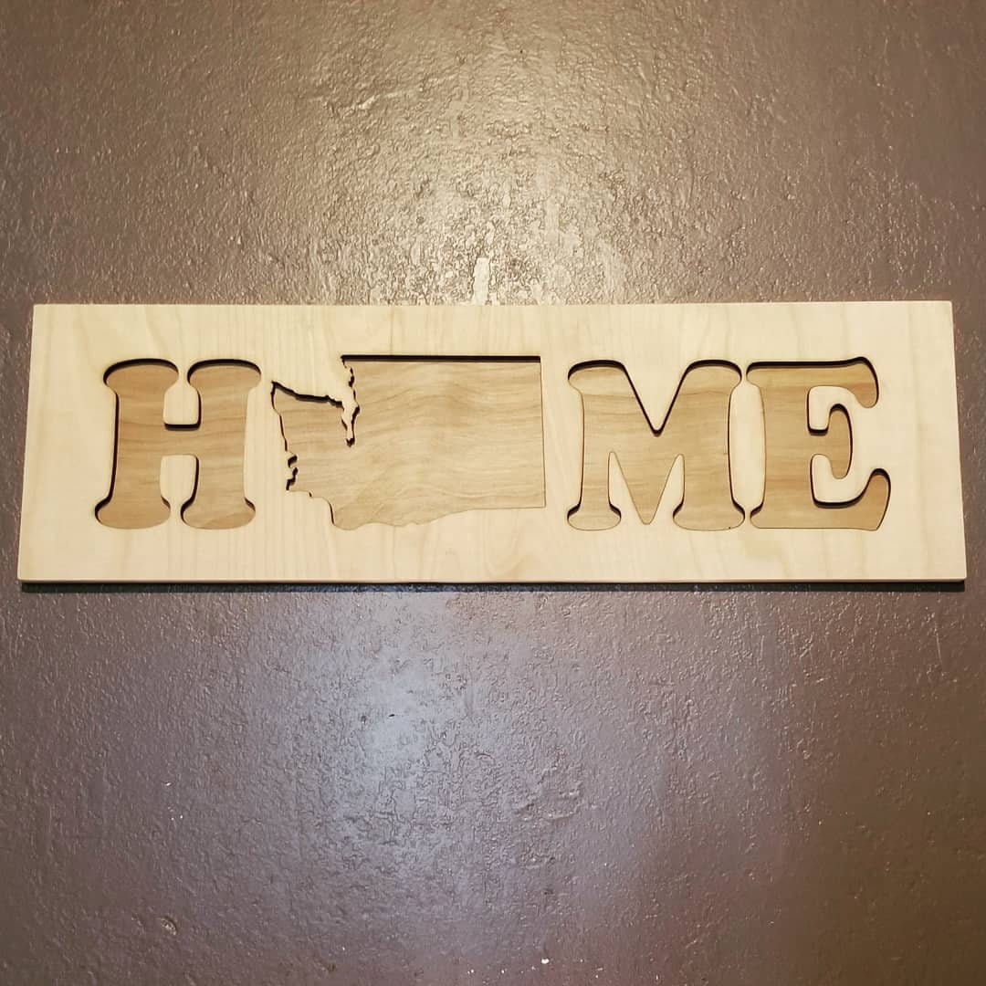 Home State Sign 50 United States of America Available Cutout