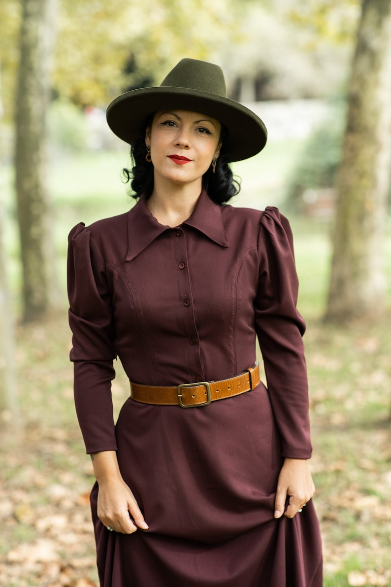 Vintage Western Wear Clothing, Outfit Ideas     Western dress / Western prairie dress / Cowgirls dress / Boho western dress / Prairie dress / Cottagecore dress $158.55 AT vintagedancer.com