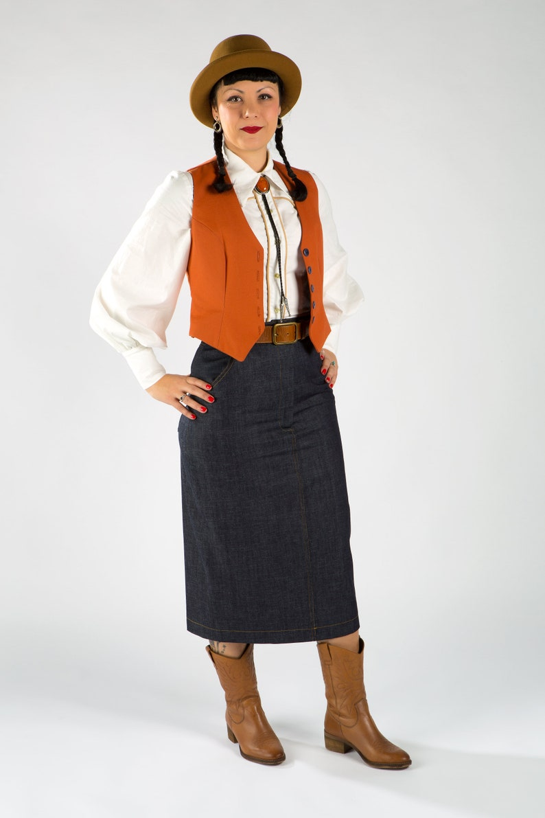 Vintage Western Wear Clothing, Outfit Ideas     Women Waistcoat /Western women Waistcoat / Western vest / Women vest / Organic cotton waistcoat $101.00 AT vintagedancer.com