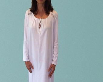 Thredbo Winter Organic Cotton Nightgown - White