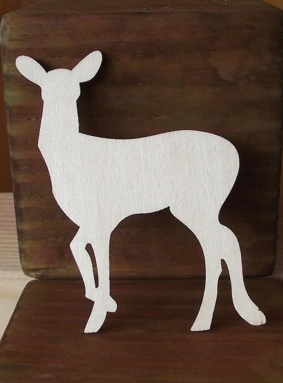 wood wild animal cutouts of a doe etsy