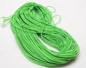 25 Yards (75 Feet) Bright Green 1mm Beading Elastic Cord