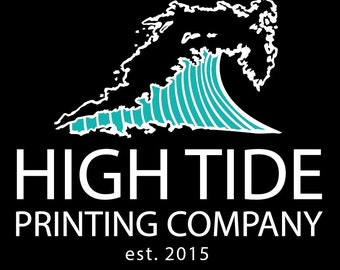High Tide Printing Company Tee l Women's Graphic Tees l Unisex Graphic Tees