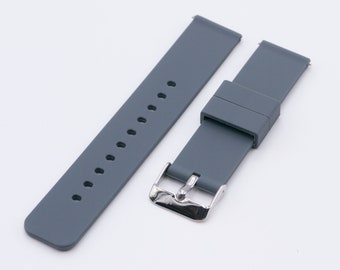 Pewter Grey Quick Release Silicone Strap