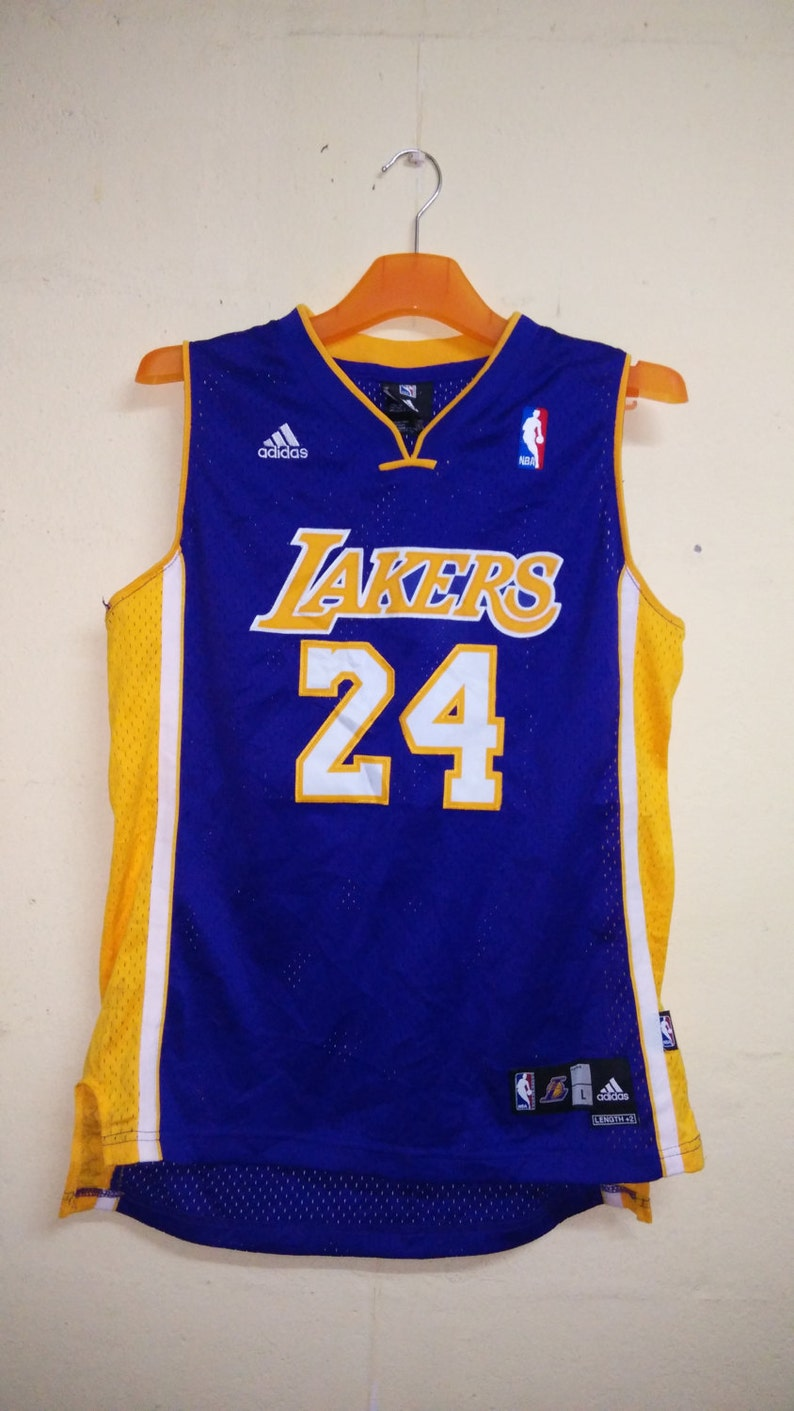7b2f2bf1 SALE VINTAGE Authentic La Lakers Kobe Bryant 24 Basketball | Etsy