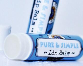 PURE & SIMPLE lèvre Baume - huile de tournesol - naturelle - bio - cire d'abeille - baume à lèvres non parfumé - cadeau - Certified - Uni-