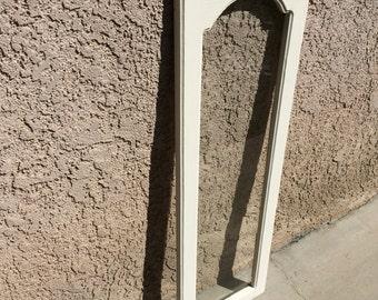Old White Annie Sloan Cabinet Window Pane Door