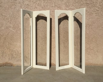 Handmade- One of a kind-Antique angled cabinet door-Annie Sloan Old White