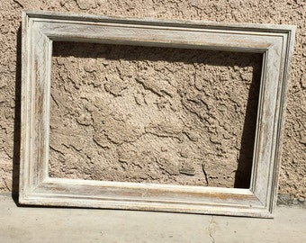 Old White Annie Sloan Distressed Frame Style 2