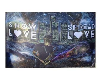 griz show love spread love tapestry