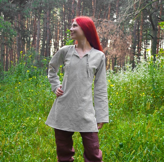 Viking tunic LARP tunic Viking clothing Viking shirt medieval tunic medieval clothing Medieval shirt Slavic linen tunic Viking costume
