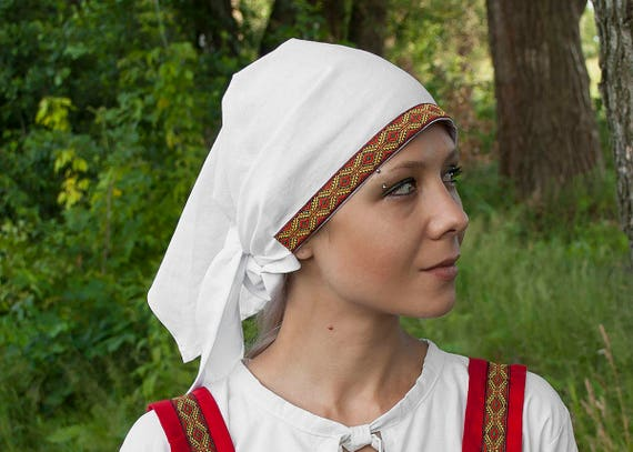 Medieval Head Covering Slavic Scarf Viking Headdress