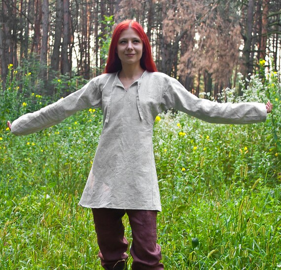 Medieval tunic Viking tunic LARP tunic viking clothing Viking Costume  Medieval clothing LARP tunic medieval ranger fantasy Linen medieval
