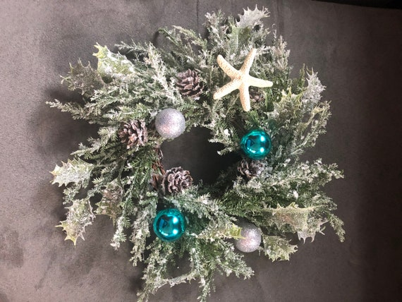 Nautical Christmas Wreath.Small Nautical Wreath Or Candle Holder
