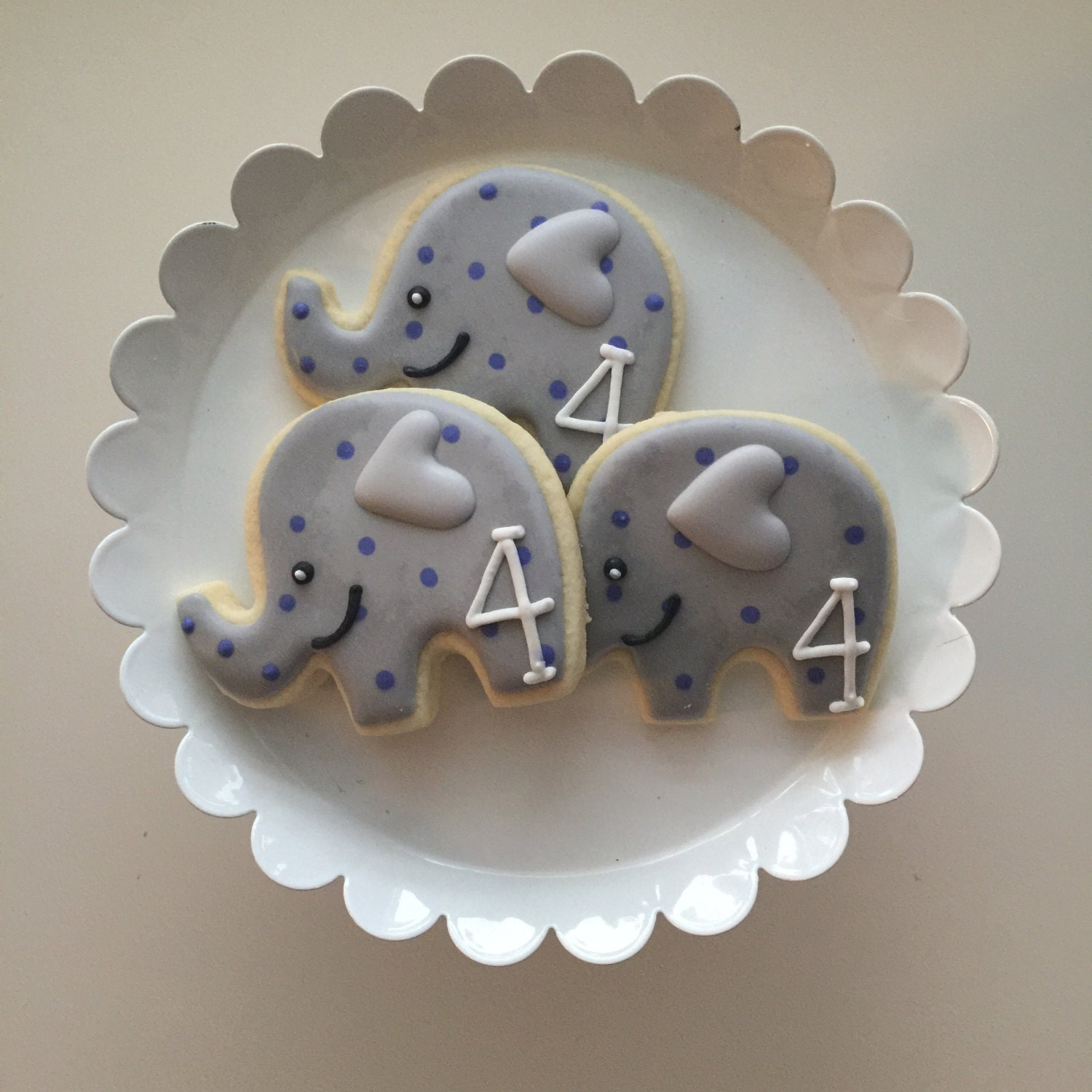 Elephant Cookies Kid's Birthday Baby Shower Cookies