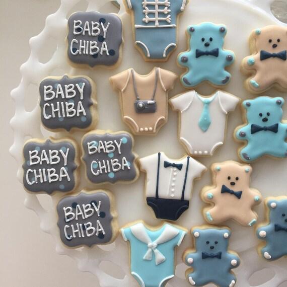 Baby Shower Cookies Baby Shower Shower Cookies Mini Etsy