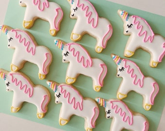 Unicorn Cookies, party favors, rainbow party, piñata cookies, treat bags, dessert table, treat bags,