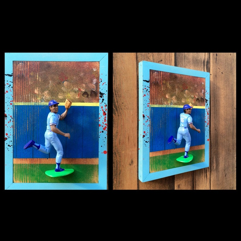 Bo Jackson Bo Knows 3 Dimensional Baseball Cards Reclaimed Wood Art Starting Lineup Figure Art 90s Mlb