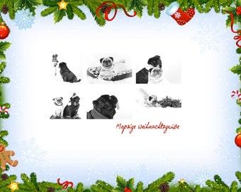 Christmas Pug Christmas Mopsige Christmas card Pug Pugly Christmas