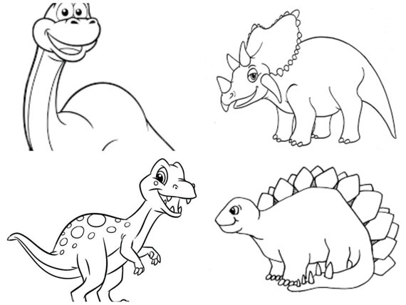 Coloriage Dinosaure Qui Se Battent.Mini Animaux Collage Coloriages Coloriages Coloriages Favorise 10
