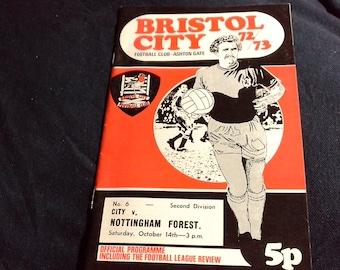 Notts County v Nottingham Forest Monday 8th September 1980 football Programme Brian Stubbs Testimonial Game