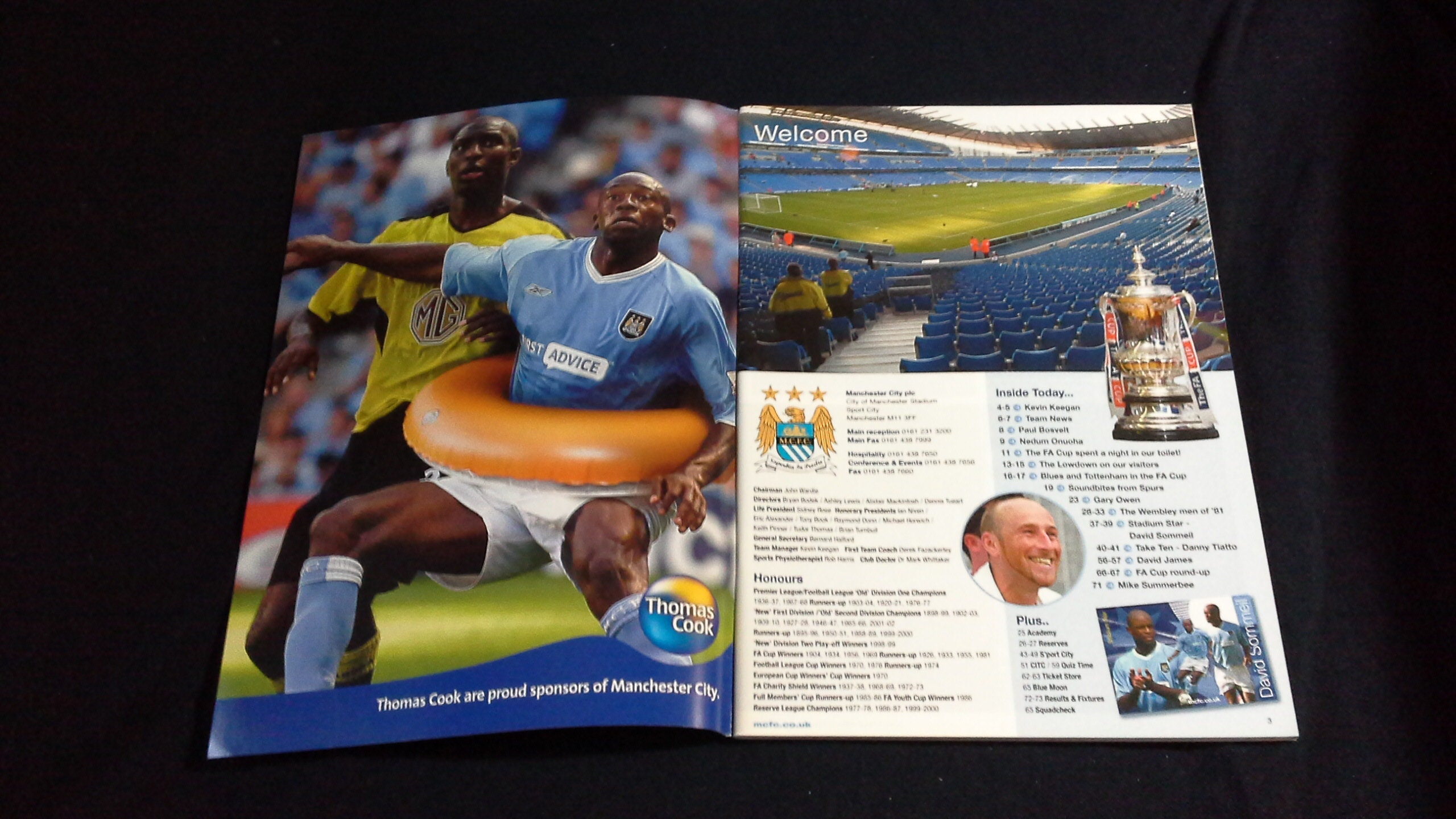 new products db70f 2ffa8 Football Programme Manchester City v Tottenham Hotspur
