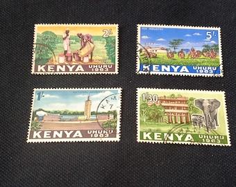 4 Kenya 1963 Postage Stamps