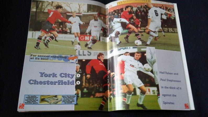 Football Programme York City v Preston North End Tuesday 25th February 1997