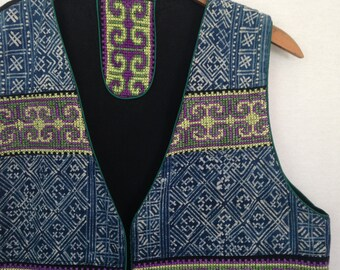 1990s batik/embroidered vest