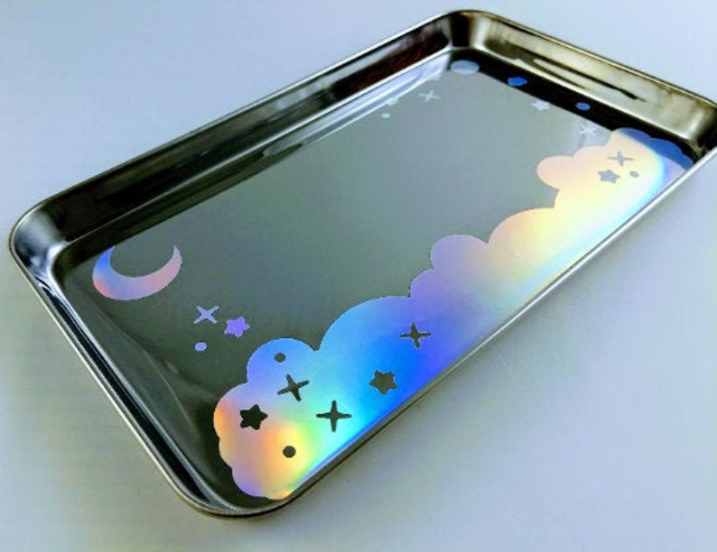 TRAY Holographic Kawaii Galaxy Scene image 0