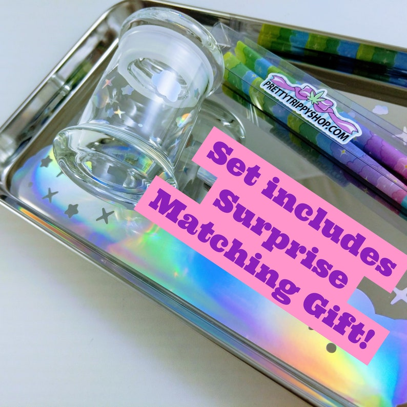 TRAY SET  Galaxy Session  Holographic  Tray Small Glass image 0