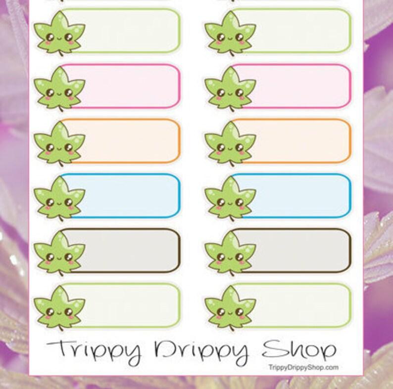 Cannabis Kawaii Stickers  Planner Stickers  Marijuana image 0