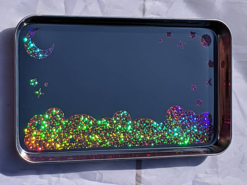 TRAY  Kawaii Galaxy Sessions  Pink Glitter  Rolling Tray  image 0