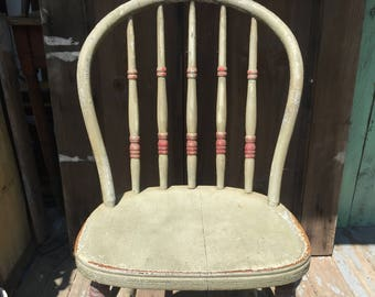 Antique Painted Wood Chair
