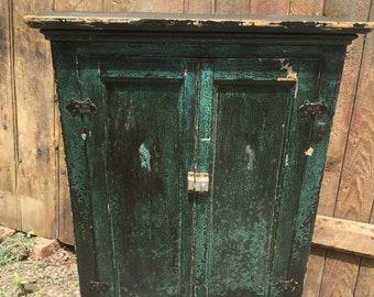 Antique Wood Cabinet & Vintage wood cabinet | Etsy