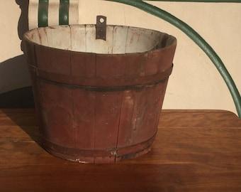 Primitive Wood Sap Bucket