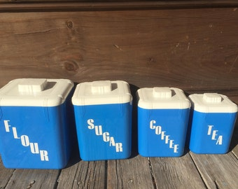Vintage Nesting Canisters